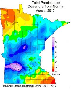 total precipitation departure from normal aug 2017